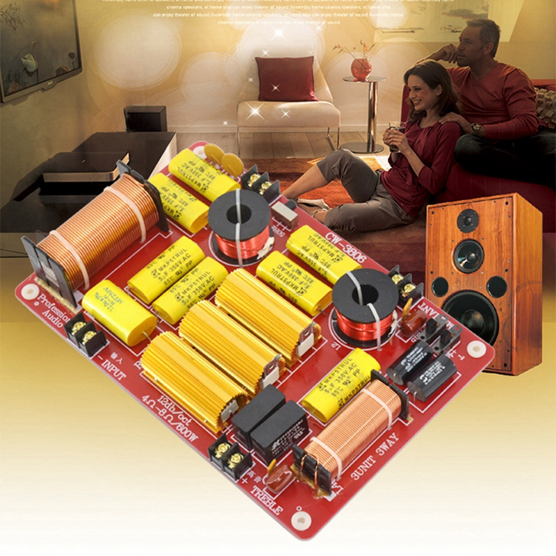 3 Way Crossover 600W 3 Way Speaker Audio Frequency Divider 3 Unit Speaker Crossover For Car Home Audio System Crossover Audio