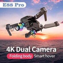 Zity e88 pro mini drones 4k profissional com câmera dupla completa grande angular wifi rc avião helicóptero fpv brinquedos para meninos 10 anos