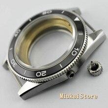 Corgeut 41mm superiore della cassa per orologi vetro zaffiro lunetta in ceramica fit Miyota 8205/8215 82 Serie ETA 2836 DG2813
