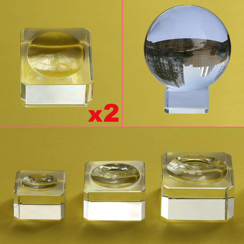 2pcs Glass Display Stand For Crystal Ball 40 50 60 80mm Large Divination Photography Lensball Base Big Magic Sphere Globe Holder