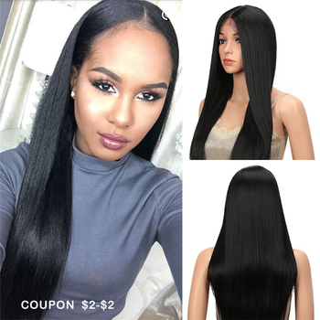 Classic Plus Synthetic Lace Front Wig 26 Inch Long Straight Hair Wig For Black Women Blonde Burgundy Cosplay Wig Heat resistant цена 2017