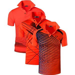 Image 2 - Jeansian 3 חבילת גברים של ספורט טי פולו חולצות POLOS Poloshirts גולף טניס בדמינטון יבש Fit קצר שרוול LSL195 PackF