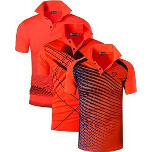 Image 2 - Jeansian Polo de Sport manches courtes pour homme, lot de 3 pièces, pour Golf, Tennis, Badminton, adapté sec, LSL195/PackG