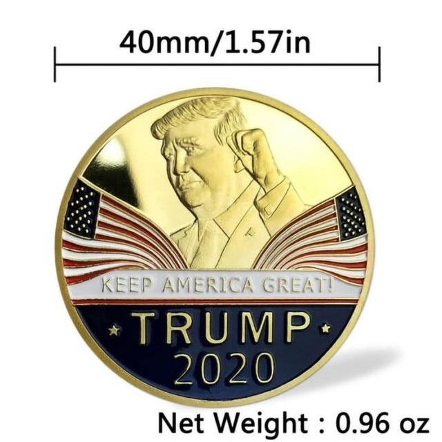 Gold Challenge Coin Commemorative America 45th President - 1pc  5