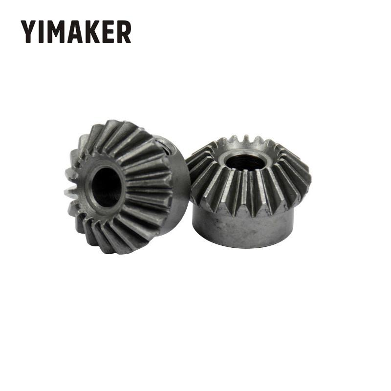 YIMAKER 2pcs 6mm Metal Bevel Gears 1 Module 20 Teeth With Inner Hole 6mm 90 Degree Drive Commutation