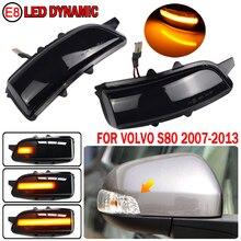 2pcs LED Side Mirror Dynamic Turn Signal Sequential Light For Volvo C30 C70 S40 S60 V40 V50 V70 2008 2010 S80 2007 2013