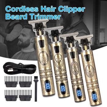 Электрическая машинка для стрижки волос T9, мужской триммер для волос, Профессиональная парикмахерская бритва, триммер, машинка для стрижки волос для мужчин, беспроводная стрижка|Триммеры для волос|   | АлиЭкспресс