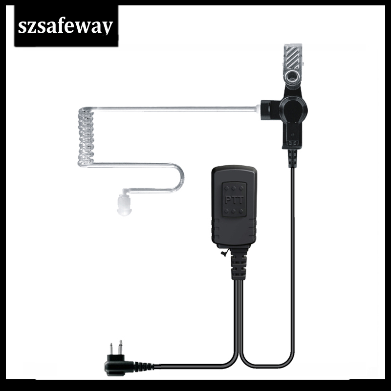 Waterproof IP54 Two Way Radio Clear Tube Earphone Ppt Mic For Motorola CP200 EP450 CP040 For Hytera TC500 TC700