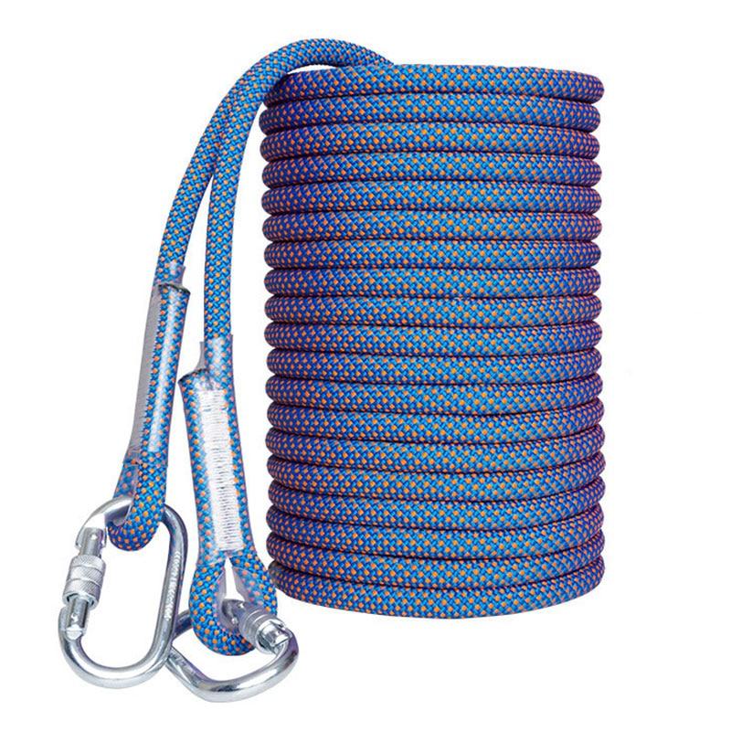14mm 10m corde de sécurité résistant à l'usure travail aérien corde de sauvetage Installation de climatisation descente corde d'escalade