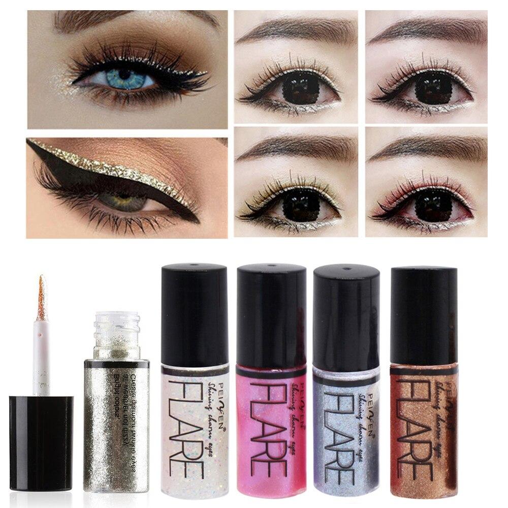 Newest15 Colors Shiny Waterproof Long Lasting Eyeshadow Glitter Liquid Highlight Eyeliner Makeup Metallic Eye Liner Pen Fashion