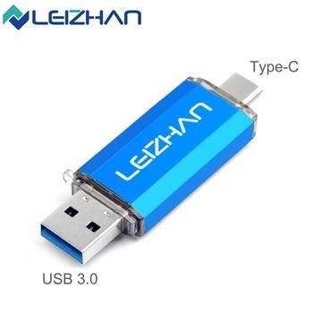 Typ C USB3.0 Flash Drive OTG Dual USB C Phone Storage Disk 512GB 256GB 128GB 64GB 32GB 16GB Memory Stick for Computer