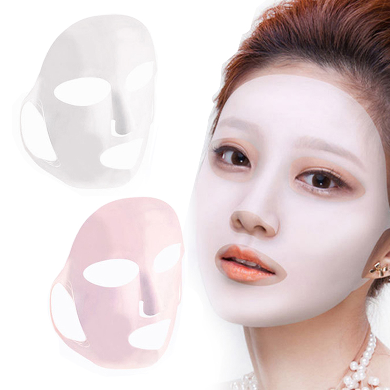 Silicone Face Mask Sheet Mask Moisturizing Anti-off Mask Ear Fixed Prevent Essence Evaporating Reusable Mask for Face Skin Care
