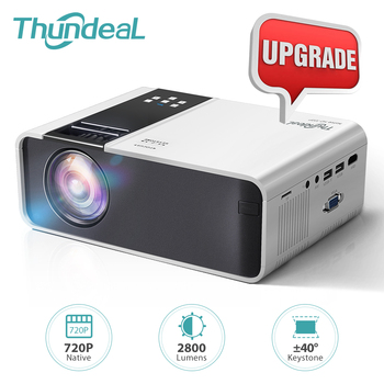 ThundeaL Mini Projector TD90K Native 1280 x 720P Portable Projector TD90 Update 40 Degree Keystone Android WiFi 3D Home Cinema