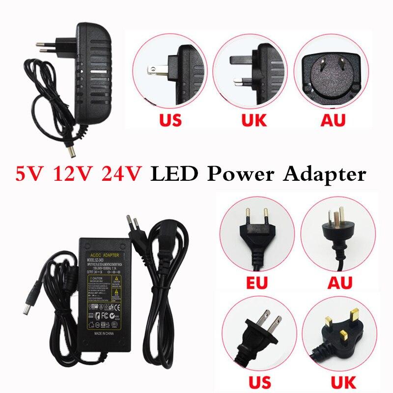 Адаптер питания для светодиодов, трансформатор переменного тока 220 В, 5050 в 5 В, 12 В, 24 В, 2 А, 3 А, 5 А, 7 А, 8 А, 10 А для светодиодных ленсветильник 3528, ...