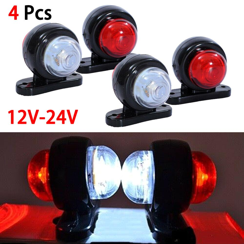 12V 24V LED Universal Car Truck Side Marker Light Outline Lamp  Indicator Signal Lamp Red White For Camper Trailer Lorry