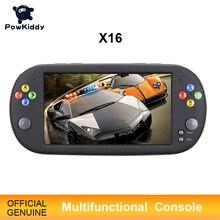 Powkiddy X16 7 Inch Máy Chơi Game Cầm Tay Di Động 8/16GBRetro Cổ Điển Video Game Thủ Cho Neogeo Arcade Cầm Tay người Chơi Game