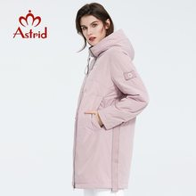 Women Jacket Spring Outerwear Fashion Plus-Size Astrid Zipper with AM-8608 Mid-Length-Style