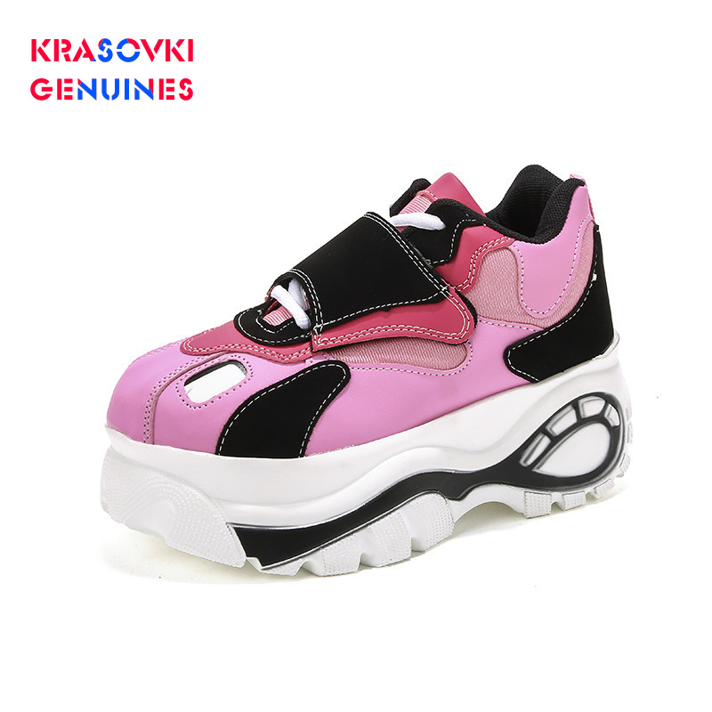 Krasovki Genuines Muffin Thick Soled Shoes Dropshipping Single Women Air Permeable Leisure Heightening