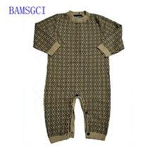 Romper Sweater Newborn-Baby Baby-Boy-Girls Winter Fashion Toddler Warm Cotton Letter