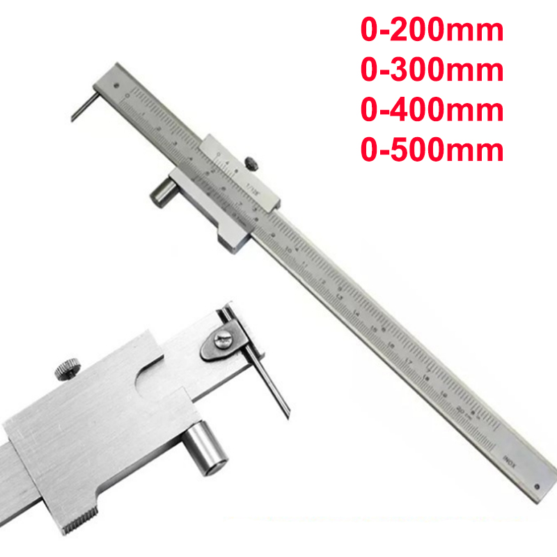 0-200mm 0-300mm 0-400mm 0-500mm Stainless Steel Parallel Marking Vernier Caliper With Carbide Scriber Marking Gauge Tool