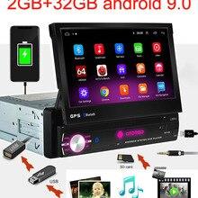 Автомобильный мультимедийный плеер, 1 DIN, Android 9,0, четырехъядерный, GPS-навигация, 7 дюймов, универсальный автомобильный радиоприемник, Wi-Fi, ...