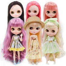 Neo Blyth Doll Customized NBL Shiny Face,1/6 OB24 BJD Ball Jointed Doll Custom Blyth Dolls for Girl, Gift for Collection factory blyth doll bjd neo blyth doll nude customized matte face dolls can changed makeup and dress diy 1 6 ball jointed dolls