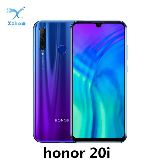Honor 20i Smartphone Kirin 710 Android 9.0 6.21inch  2340X1080 32.0MP Face ID Fingerprint 3400mAh 4G LTE Cellphones