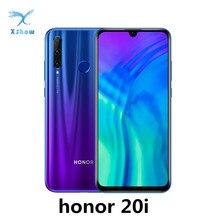Honor 20i smartfon Kirin 710 z systemem Android 9.0 6.21 cal 2340X1080 32.0MP Face ID linii papilarnych 3400mAh 4G LTE telefony komórkowe