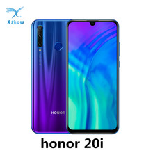Honor teléfono inteligente con reconocimiento de huella dactilar, dispositivo móvil con procesador Kirin 710, Android 9,0, pantalla de 6,21 pulgadas, 2340X1080, cámara de 32.0MP, identificación facial, batería de 3400mAh, 4G LTE, modelo 20i