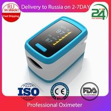 Digitale Vingertop Pulsoxymeter Vinger Led Display Bloed Zuurstof Sensor Verzadiging SpO2 Hartslag Monitormeter Willekeurige Kleur