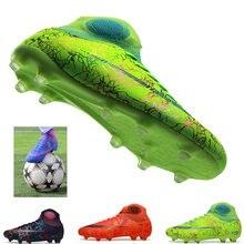 Chaussures de Football en intérieur pour hommes et femmes, chaussures de Futsal pour enfants, crampons d'entraînement en terrain dur TF, baskets de Sport, taille 35-46, nouvelle collection 2019