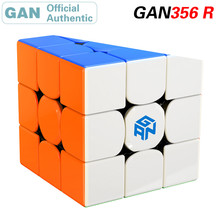 GAN 356 R 3x3x3 Magic Cube 3x3 GAN356/356R Professional Neo Speed Cube Puzzle Antistress Fidget Toys For Children gan356 air ultimate magic cube 3x3x3 speed puzzle gan 356 air u version competition cube educational toys 56mm