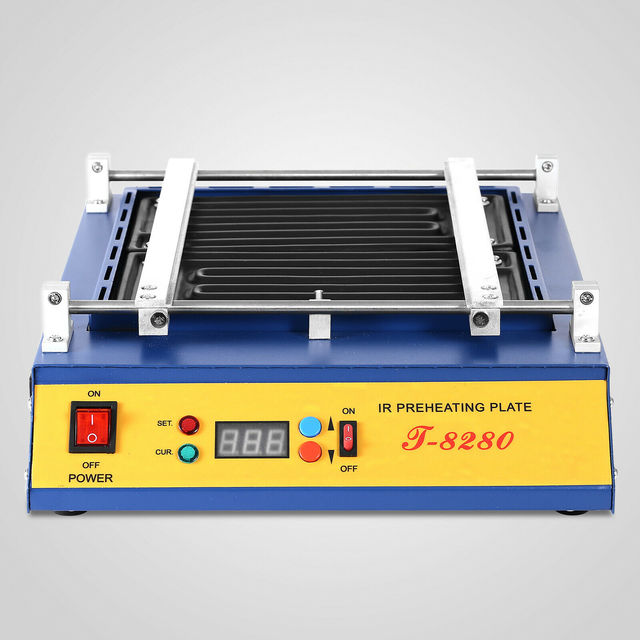 1600W IR PCB Infrared Preheater BGA Rework Preheating Station T 8280 European Counties Free Shipping