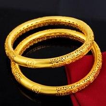 1 шт красивый браслет с отверстиями модный подарок желтое золото