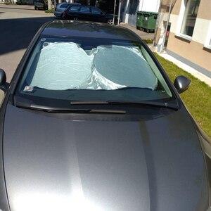 Image 2 - Pára brisa do carro capa janela de proteção solar frente janela traseira dobrável sombra escudo viseira uv bloco para dianteiro traseiro brisa
