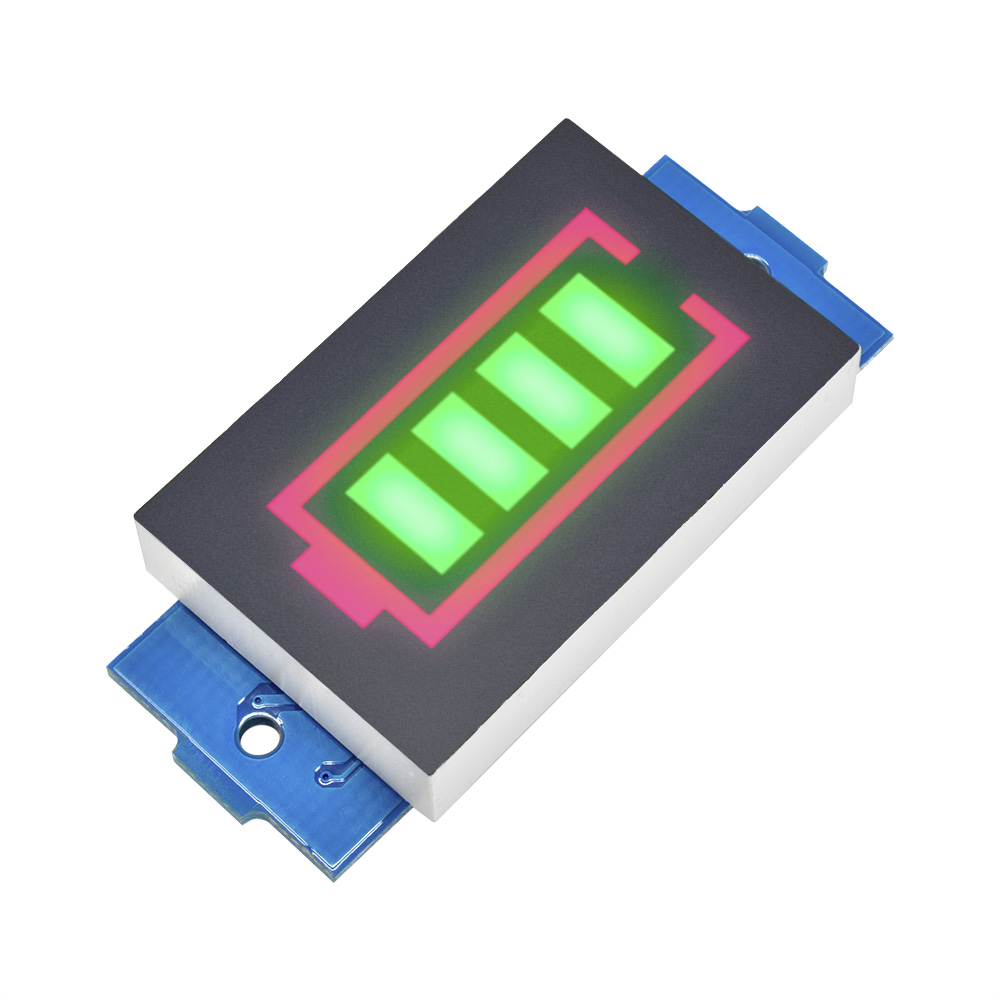 Индикатор емкости литий-ионных батарей 1S/2S/3S/4S 18650, измеритель уровня заряда, тестер с зеленым дисплеем