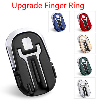 Upgrade Ring Finger dla telefonu uchwyt samochodowy uchwyt Air Vent góra stojak Supporto Smartphone Auto dla Samsung IPhone Holder tanie i dobre opinie CAR-partment CN (pochodzenie) Black Dropshipping Zinc alloy 33x56x6 5mm