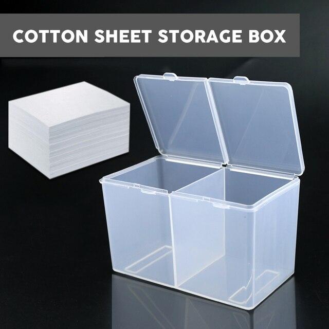 Đôi Lưới Trong Suốt Cotton Sheet Hộp Bảo Quản Trang Điểm Miếng Bông Hộp Bông Tăm Bông Hộp Hình Xăm Phụ Kiện