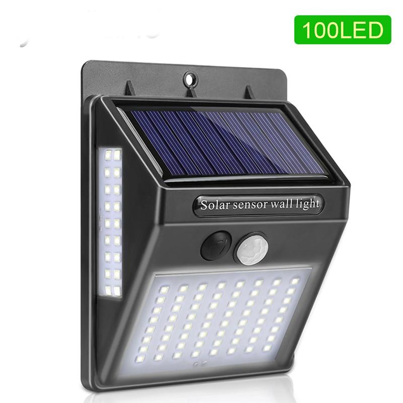 20/30/100 LEDs Outdoor Solar Light PIR Motion Sensor Solar Garden Light Energy Saving Street Path Wall Lamp Dropshipping