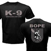 Novo brasil swat bope forças especiais polícia K-9 cão canino canil unidade camiseta engraçado algodão casual camiseta superior impresso t camisa