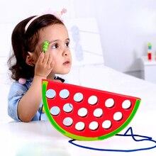Детские развивающие деревянные игрушки Монтессори, забавные игрушки для детей, развивающие игрушки в форме червя, яблоки, груши, Обучающие ...