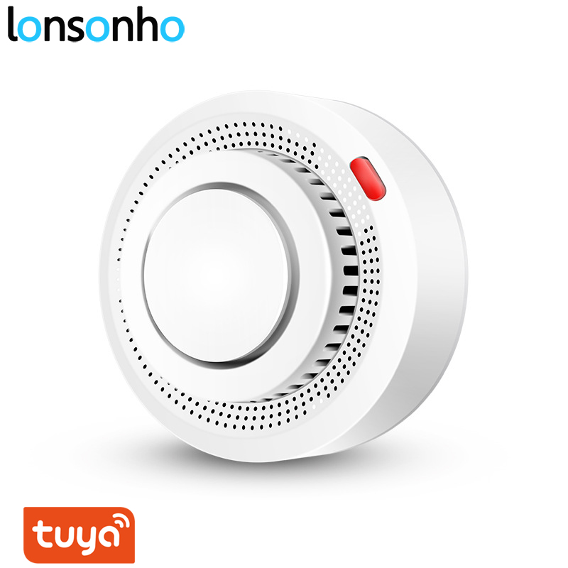 Lonsonho Tuya Smart Wifi Smoke Detector Sensor Fire Alarm Systems Security Home Smartlife Automation Module