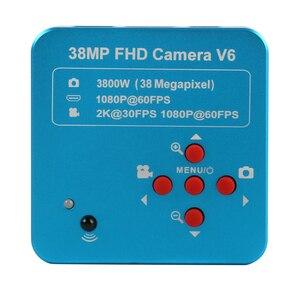 Image 4 - 3.5X 7X 45X 90X Boom Duplo Suporte Trinocular Microscópio Estéreo Zoom Focal Simul Microscópio + 1080P 60FPS 2K 3800W 38MP HDMI USB