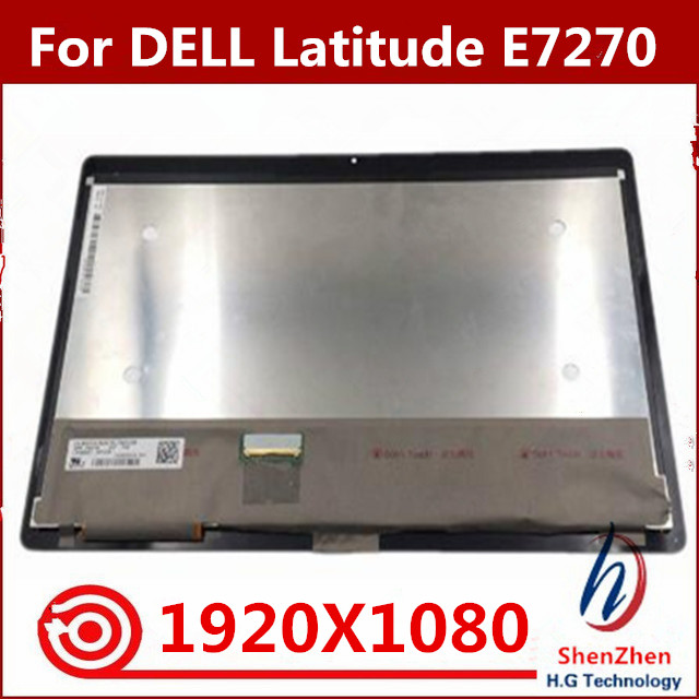 LCD Touch Screen Assembly For Dell Latitude E7270 Laptop Digitizer 12.5