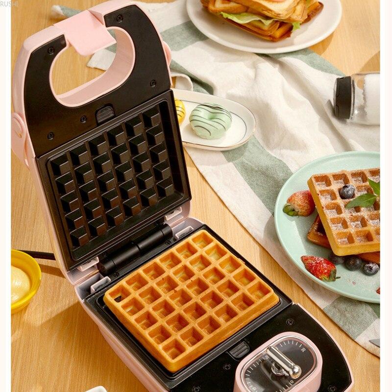 220V 650W casa sándwich máquina multifuncional olla Donut Waffle del fabricante y tortilla Maker - 5