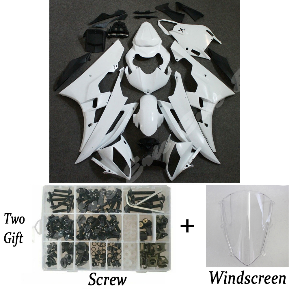 Unpainted Injection <font><b>Body</b></font> Work Race Fairing Set <font><b>Kit</b></font> For <font><b>Yamaha</b></font> YZF <font><b>R6</b></font> 2006 2007 image