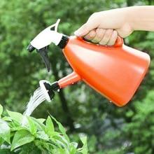2 в 1 лейка чайник садовая бутылка растение цветок опрыскиватель горшок инструмент FP8