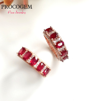 Natural Heated Pigeon Blood Ruby Ring for Women Party Engagement 3x5mm S925 Silver Fine jewelry Red Genuine gemstone Rings #411