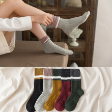 10 Pair/set Socks Autumn Winter Japanese College Style Cotton Manufacturer Wholesale Girl Sock Cute