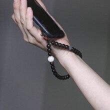 سلسلة هاتف خلوي قصيرة من خشب الورد ، سلك سفلي قابل للفصل ، للجنسين ، خاص